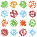 Round color ornament set Stock Images