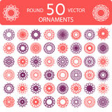 Round color ornament set Stock Photo
