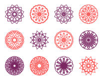 Round color ornament set Royalty Free Stock Image