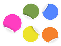 Round color stickers Stock Photography