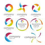 Abstract round colored logos Royalty Free Stock Photography