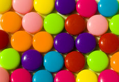 Round colored balls crushed Royalty Free Stock Photo