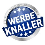 Button with banner Werbeknaller Royalty Free Stock Photo