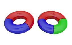 Round colored diagrams Stock Photos