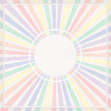 Round colored frame. Round frame with colored rays and border Royalty Free Stock Image
