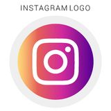 Round Colored Instagram logo with vector Ai file. Easily editable and have white background. high resolution stock illustration