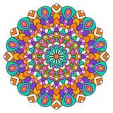 Round colored mandala. On a white background. Turkish, Islamic, Oriental ornament stock illustration