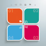 Round Colored Quadrates Template 4 Options Stock Photos