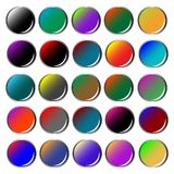 Round colored web buttons Royalty Free Stock Photography