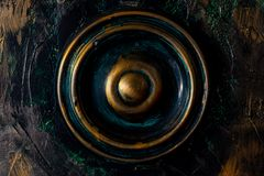 Round Coloreful Indian Wooden knob royalty free stock photo