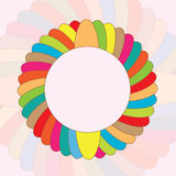 Round colorful vector background Royalty Free Stock Images