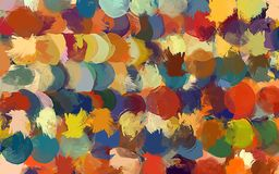 Round colorful brush strokes background. Vector version Royalty Free Stock Photo