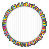 Round colorful frame made of many small lines Royalty Free Stock Images