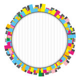 Round colorful frame made of rectangles Stock Photo