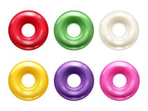 Round colorful hard candies set. Stock Photography