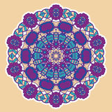Round colorful mandala. Royalty Free Stock Photography