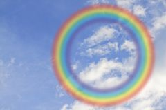 Round rainbow on the sky Royalty Free Stock Photography