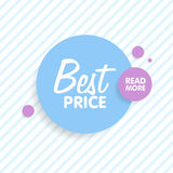 Round colorful  shapes. Abstract  banners. Material Design elements. Best price concept.  Stock Photo