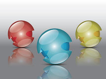 Round colorful sphere Stock Photos