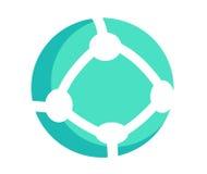 Round Communication Icon Stock Image
