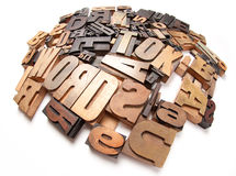 Round composition of letter cases Royalty Free Stock Photo