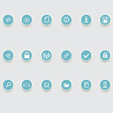 Round of computer icons Stock Photography