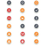 Round of computer icons Stock Image