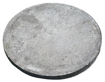 Round concrete cover  hatch for the sewerage system. Royalty Free Stock Image