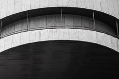 Round concrete exterior fragment Stock Photography