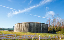 Round Concrete Water Tank Royalty Free Stock Photography