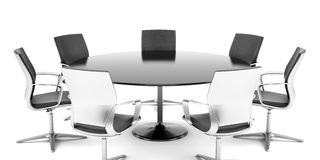 Round conference room Stock Image