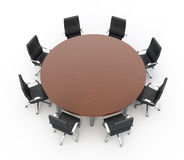 Round conference Table Stock Photo