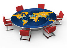 Round conference table Stock Image