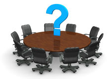 Conference Table Question Mark Stock Images