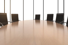 Round conference table and chairs Royalty Free Stock Images