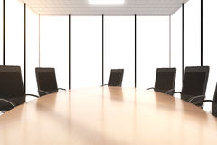 Round conference table with chairs in the office Stock Images