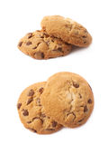 Round cookie with chocolate Royalty Free Stock Images