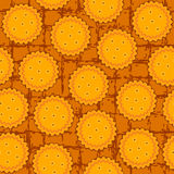 Round cookie seamless background pattern Stock Photography