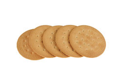 Round cookies. On white background Royalty Free Stock Photo
