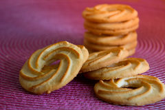 Round cookies. biscuits for tea or coffee. Round tea cookies. biscuits for tea or coffee Stock Image