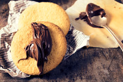 Round cookies royalty free stock photos