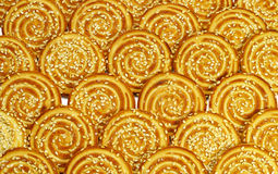 Round cookies with sesame seeds Royalty Free Stock Photo