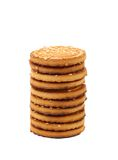 Round cookies with sesame seeds Royalty Free Stock Image