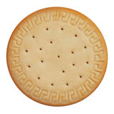 Round cookies on a white background Stock Images