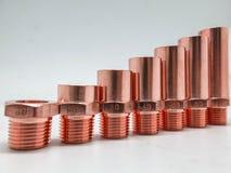 Round copper royalty free stock photos