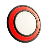 Round copyspace emblem made of glossy plastic Royalty Free Stock Photography