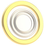 Round copyspase circular plate isolated Royalty Free Stock Photos