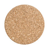 Round cork board isolated on white background Royalty Free Stock Photography