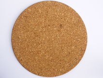 Round cork board. On white background Royalty Free Stock Image