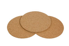 Round corkwood coasters Royalty Free Stock Photography